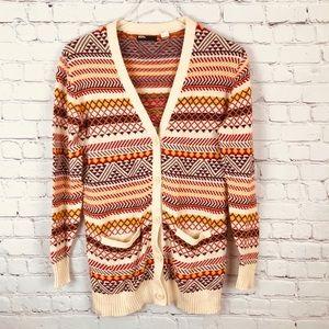 BDG Long Striped Cardigan Sweater SZ Small